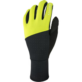Sealskinz Solo Super Thin Guantes Ciclismo, black/neon yellow